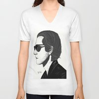 nightcrawler V-neck T-shirts featuring Jake Gyllenhaal in Nightcrawler by dispersibility
