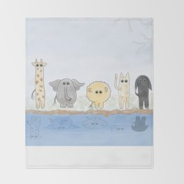The Watering Hole Throw Blanket