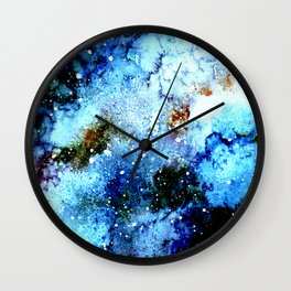 Cool Blue Galaxy Wall Clock