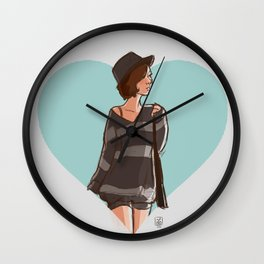 The girl Wall Clock