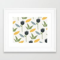 floral pattern Framed Art Prints featuring Floral Pattern by Mark Conlan
