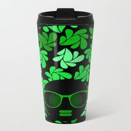 Afro Diva : Green & Black Travel Mug