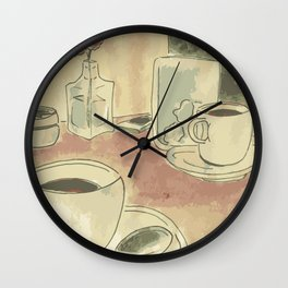 coffee by Laura Pizzicalaluna  Wall Clock