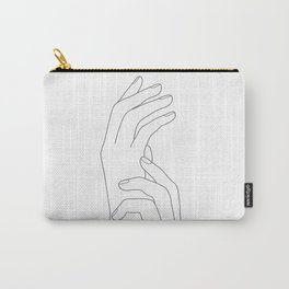 Minimal Line Art Feminine Hands Carry-All Pouch