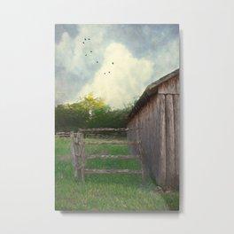 Rustic Summer Barnyard Metal Print