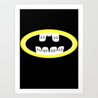 comic book Art Prints featuring Braces/ Comic book by Aztec Pineapple