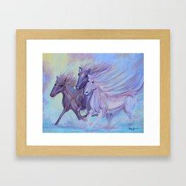 Horses of the Sea Framed Art Print