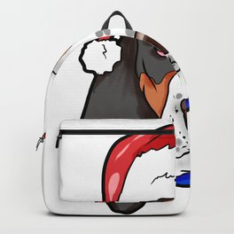 Basset Hound Dog Christmas Hat Backpack