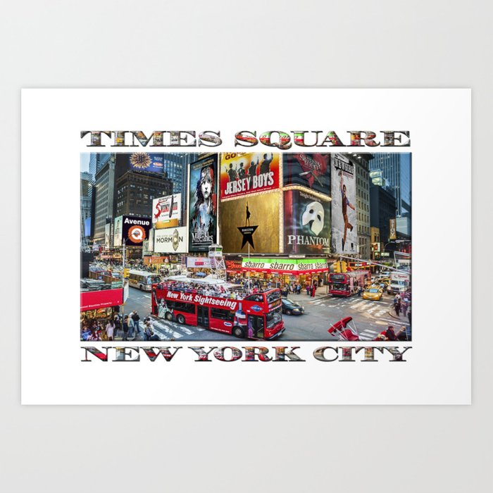 Times Square II (widescreen poster on white) Art Print