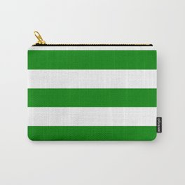 Ao (English) - solid color - white stripes pattern Carry-All Pouch