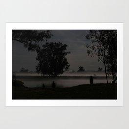 Fog on a Calm Spring Night Art Print