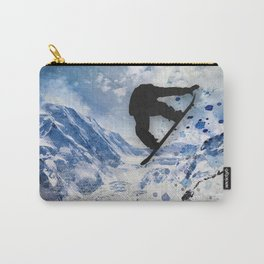 Snowboarder In Flight Carry-All Pouch