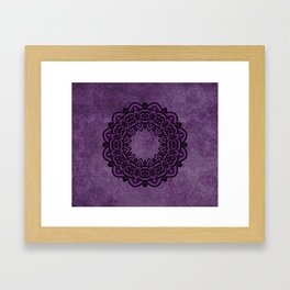 Circle in Purple Framed Art Print