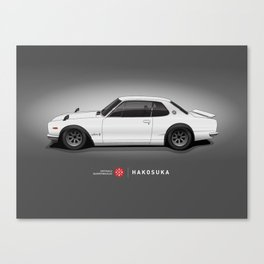 Hakosuka Skyline GTR (White) Canvas Print