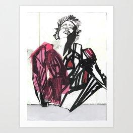 BLACK/WHITE BOY Art Print