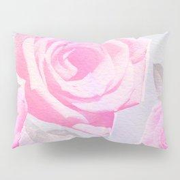 Pink Retro Floral Pattern  Pillow Sham
