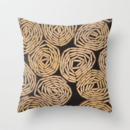 Wood planks texture Throw Pillow