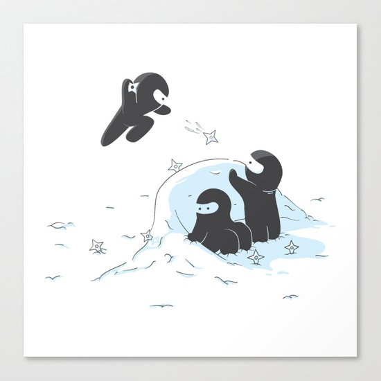 Ninjas do not camouflage well in winter Canvas Print