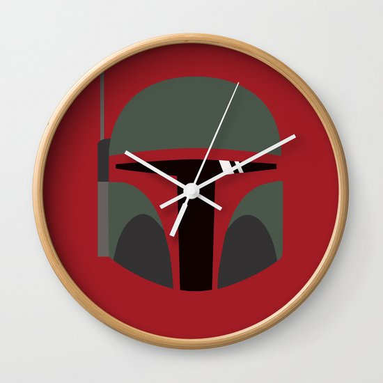 Star Wars Minimalism - Boba Fett Wall Clock