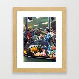 Supermarket, nonsocial vibration Framed Art Print