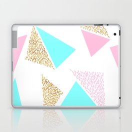 Gold, Pink, and Aqua Triangle Pattern Laptop & iPad Skin