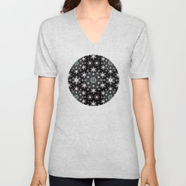 Snowflake Lace Unisex V-Neck