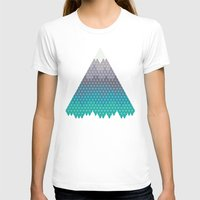 geology T-shirts featuring Many Mountains by Rick Crane