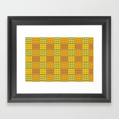 Hob Nob Orange Quarters Framed Art Print