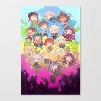 dangan ronpa Canvas Prints featuring Dangan Island by CO27