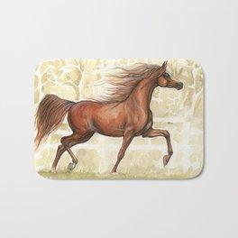 chestnut arabian horse Bath Mat