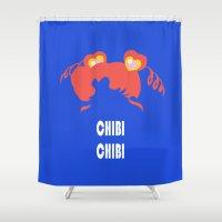 chibi Shower Curtains featuring chibi chibi by Michi Donaho