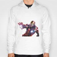 iron man Hoodies featuring Iron man by Gary Reddin