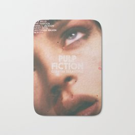Pulp Fiction, Quentin Tarantino, alternative movie poster, Uma Thurman, Mia Wallace Bath Mat