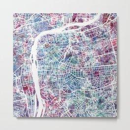 Prague map Metal Print