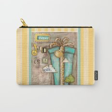 Every Day is a Gift - a collage by Diane Duda Carry-All Pouch