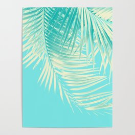 Palm Leaves Summer Vibes #4 #tropical #decor #art #society6 Poster