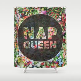 Nap Queen Floral Style Shower Curtain