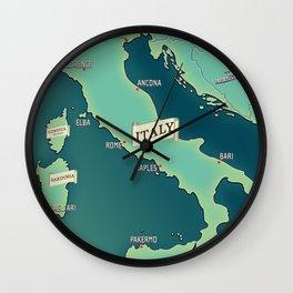 Map Of Italy Wall Clock