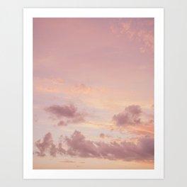 Dreamy pastel sky (4/4) / Nature photography art print - clouds sunset orange purple Art Print