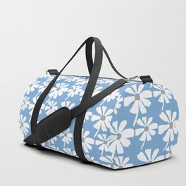 Daisies In The Summer Breeze - Blue Grey White Duffle Bag