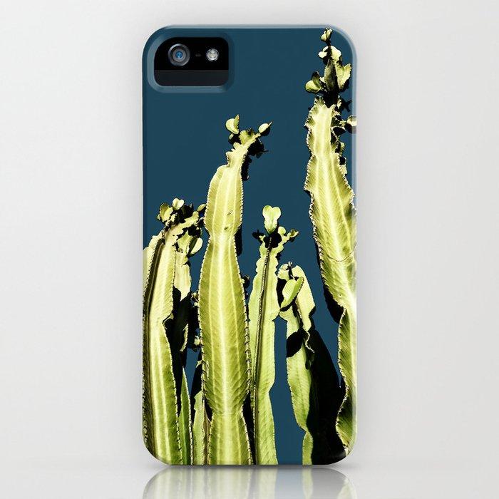 Cactus - blue iPhone Case
