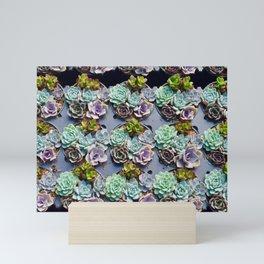 succulent cupcakes Mini Art Print