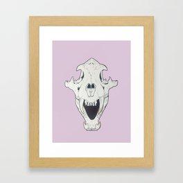 Tiger Skull w/ gold Framed Art Print