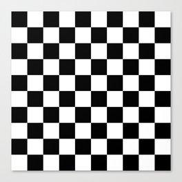 Black & White Checkered Pattern Canvas Print