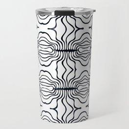 Mouth Collection: B&W stripy mouths Travel Mug