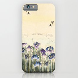 Iris meadow iPhone Case