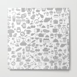 Meal a background5 Metal Print