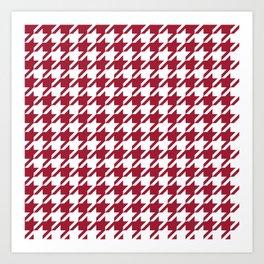 Bama crimson tide college state pattern print university of alabama varsity alumni gifts houndstooth Art Print