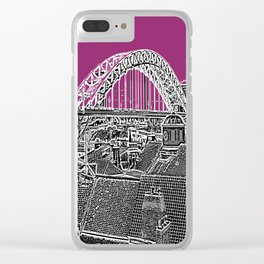 PURPLE SKY OVER THE CITY Clear iPhone Case