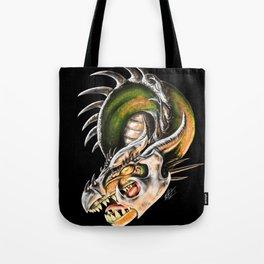 Armored Dragon Tote Bag